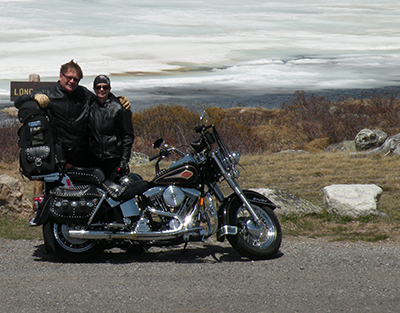 Chan and Pam Libbey pursuing another favorite activity - scenic motorcycle rides!