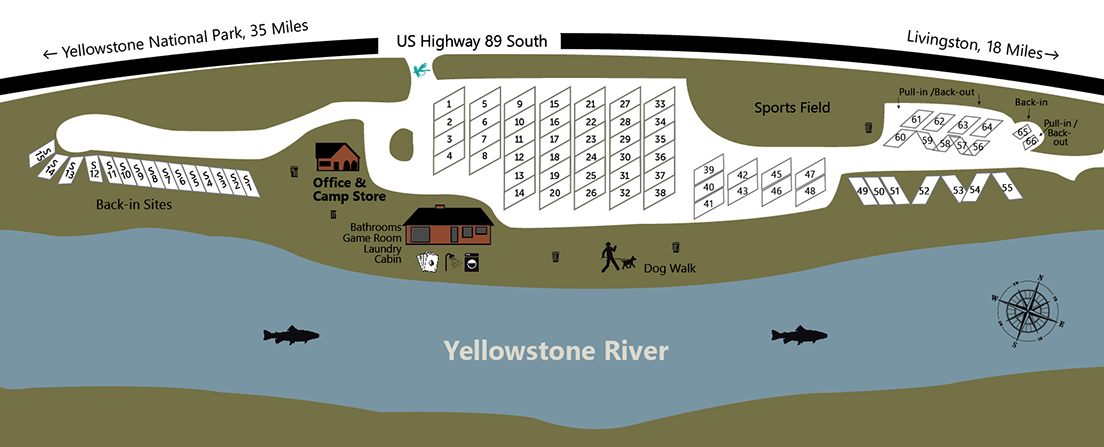 Yellowstone Edge RV Sites Park Map
